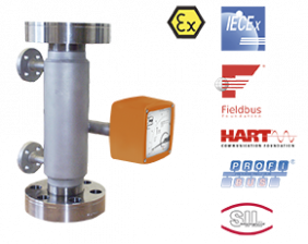 bgn-hochdruck-durchfluss.png: Rotametr / -sygnalizator BGN-Wysokie ciśnienie