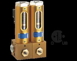 bvb-durchfluss.png: Rozdělovač s ventily pro víceokruhové instalace BVB