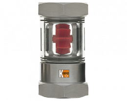 daa-durchfluss.png: Forgókerekes áramlásjelző rotorral, és öntisztító mechanikával DAA