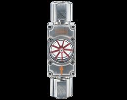 daf-1-durchfluss.png: Forgókerekes áramlásjelző DAF-1