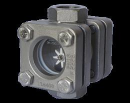 dar-1-durchfluss.png: Sichtglas mit Rotor DAR-1