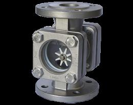 dar-2-durchfluss.png: Sichtglas mit Rotor DAR-2