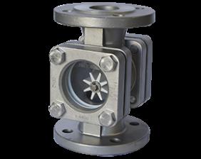 dar-2-durchfluss.png: Wskaźnik przepływu z rotorem DAR-2