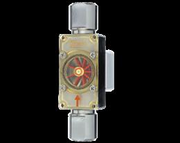 df-h-durchfluss.png: Forgókerekes áramlásmérő - kis áramlásokhoz - impulzus/frekvencia kimenettel DF-H