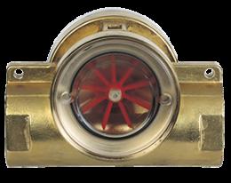 dig-durchfluss.png: Indikátor prietoku s lopatkovým kolesom DIG