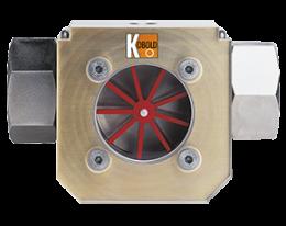 dih-durchfluss.png: Indikátor prietoku s lopatkovým kolesom DIH