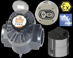 don-durchfluss.png: Oval Wheel Flowmeter - Pulse Output DON