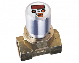 dpe-c3-durchfluss.png: Turbínkový průtokoměr DPE-..C3