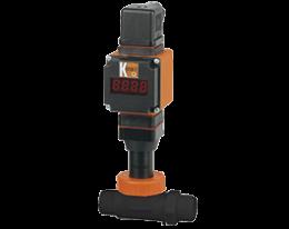 dpl-l4-auf-durchfluss.png: Forgókerekes áramlásmérő - kis áramlásokhoz - analóg kimenettel DPL-...L4, AUF kijelzővel