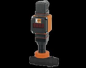 dpl-l4-auf-durchfluss.png: Rotating Vane Flowmeter - Analogue Output DPL-..L4 with AUF