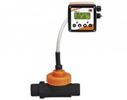 dpl-zed-durchfluss.png: Forgókerekes áramlásmérő és összegző - kis áramlásokhoz DPL, ZED kijelzővel