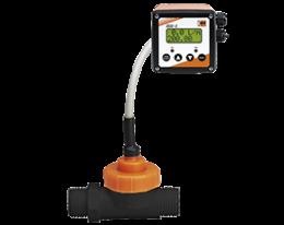 dpl-zed-durchfluss.png: Flussimetro a ventola rotante per bassi volumi DPL with ZED