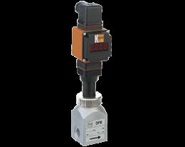 dpm-l4-auf-durchfluss.png: Forgókerekes áramlásmérő  - kis áramlásokhoz, analóg kimenettel DPM-...L4, AUF kijelzővel