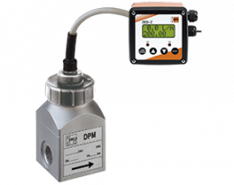 dpm-zed-durchfluss.png: Rotating Vane Flowmeter - Counter DPM with ZED