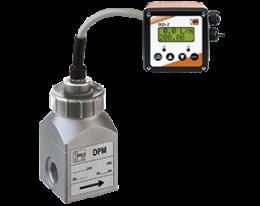 dpm-zed-durchfluss.png: Forgókerekes áramlásmérő - kis áramlásokhoz, összegzővel DPM, ZED kijelzővel