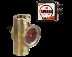 drg-adi-1-durchfluss.png: Rotating Vane Flowmeter - Digital Display DRG with ADI