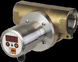 drg-c3-durchfluss.png: Forgókerekes áramlásmérő - kompakt elektronikával DRG-..C3