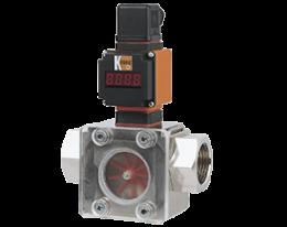 drh-auf-durchfluss.png: Forgókerekes áramlásmérő - analóg kimenettel DRH, AUF kijelzővel