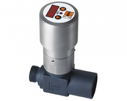 drs-c3-durchfluss.png: Turbinenrad Durchflussmesser / -wächter - Kompaktelektronik DRS-..C3