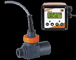 drs-zed-durchfluss.png: Turbinakerekes áramlásmérő - összegzővel DRS, ZED kijelzővel