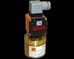 drz-auf-durchfluss.png: Gyűrűdugattyús áramlásmérő - összegzővel, analóg kimenettel DRZ, AUF kijelzővel