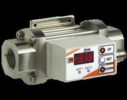 dvk-durchfluss.png: Calorimetric Flowmeter / monitor / totaliser DVK