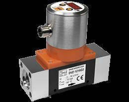 dvz-c3-durchfluss.png: Vírový (Vortex) průtokoměr/spínač - kompaktní elektronika DVZ-..C3