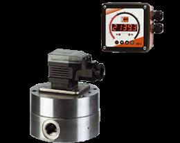 dzr-adi-1-durchfluss.png: Fogaskerekes áramlásmérő - adagoló elektronikával DZR, ADI-1 kijelzővel