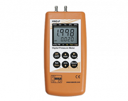 hnd-p-126-druck.png: Hand-Held Pressure Measuring Device for Differential Pressure for 2 Integrated Sensors HND-P126, -P236