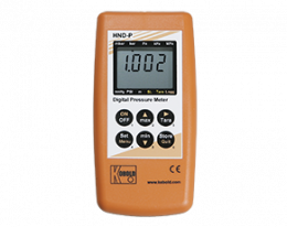 hnd-p-215-druck.png: Hand-Held Pressure Measuring Device for Differential Pressure for 2 External Sensors HND-P215
