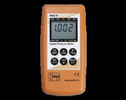 hnd-p-215-druck.png: Kézi nyomásmérő - nyomáskülönbség mérésre 2 külső szenzorral HND-P215