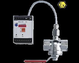 kal-e-durchfluss.png: Kalorimetrikus áramlásjelző/-kapcsoló KAL, KAL-E