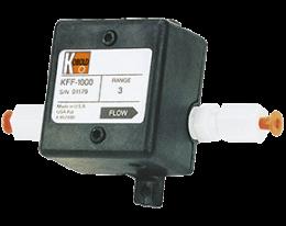 kff-kfg-1-durchfluss.png: Průtokoměr s lopátkovým kolem pro malá množství KFF-1, KFG-1