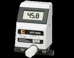kff-kfg-3-durchfluss.png: Forgókerekes áramlásmérő - kis áramlásokhoz KFF-3, KFG-3