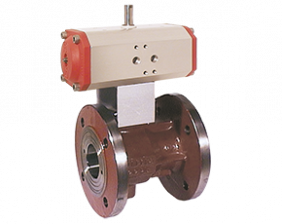kup-vo-zubehoer.png: Ball Valve with Pneum. Actuator KUP-VO