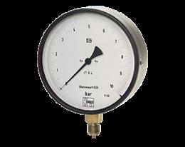 man-f-druck.png: Manometro di pressione di test a tubo Bourdon MAN-F