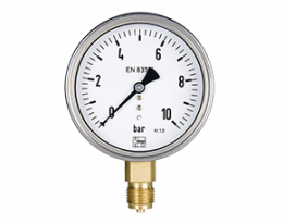man-r-q-druck.png: Bourdon manometer MAN-R, MAN-Q