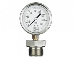 man-rd-drm-600-druck.png: All Stainless Steel Bourbon Tube Pressure Gauge with Mambrane Diaphragm MAN-RD...DRM-600