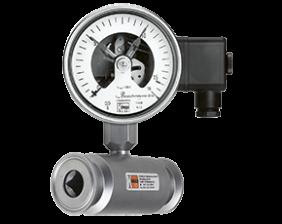 man-rf-drm-502-druck.png: Kontaktmanometer-Chemie mit Membrandruckmittler MAN-RF...DRM-502