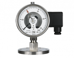 man-rf-m1-drm-628-druck.png: All Stainless Steel Pressure Gauge with In-Line Diaphragm MAN-RF..M1..DRM-628