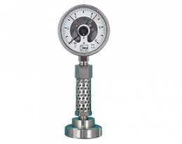 man-rf-mzb-711-drm-602-druck.png: Pressure Gauge with Diaphragm Seal DIN 11851 and Cool. Element MAN-RF..MZB-711...DRM-602