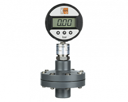 man-sd-drm-630-druck.png: Digital Pressure Gauge with Membrane Diaphragm Seal PVC MAN-SD..DRM-630
