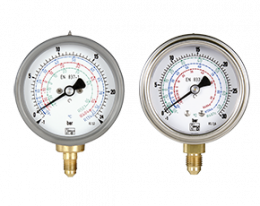 man-t-druck.png: Bourdon tube pressure gauges for refrigerants  MAN-T