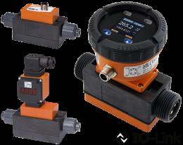 mik-durchfluss.png: Kompakt mágneses induktív áramlásmérő/-kapcsoló MIK