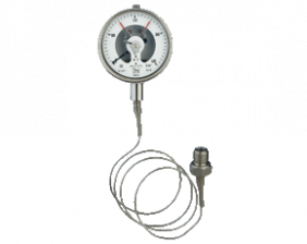 p1-man-rfm-drm601_5.png: Kontaktmanometer mit Membrandruckmittler und Fernleitung MAN-RF..M...DRM-601