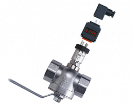 sen-86-auf-kug-s-druck.png: Pressure Sensor with Plug-on Display and Process Assembly SEN-86 with AUF, KUG-S