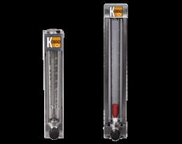 uvr-utr-durchfluss.png: Lazakarimás, üvegcsöves, lebegőtestes áramlásmérő  UVR/UTR