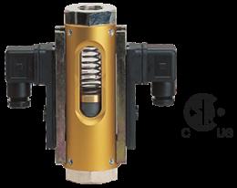 vkg-durchfluss.png: Viszkozitás kompenzált áralásmérő/-kapcsoló VKG