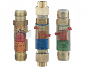vkp-durchfluss.png: Műanyag viszkozitás kompenzált áramlásmérő/-kapcsoló VKP
