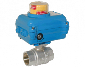 z1-kua-ka.png: Brass Ball Valve with Electric Actuator KUA-KA